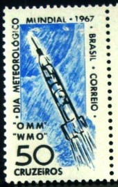 Selo postal do Brasil de 1967 Dia do Meteorógico - C 566 N