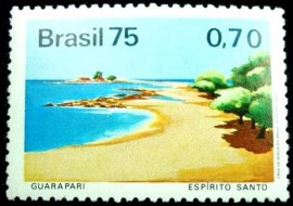 Selo postal do Brasil de 1975 Guarapari
