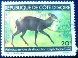 Selo postal da Costa do Marfim de 1979 Yellow-backed Duiker