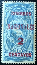 Selo postal da Guatemala de 1898 Coat of arms 2