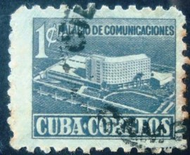 Selo postal de Cuba de 1952 Building of the Postal Ministry