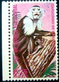 Selo postal da Guiné Equatorial de 1975 White-headed Capuchin