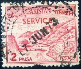 Selo postal do Paquistão de 1965 Khyber Pass
