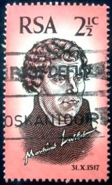 Selo postal da África do Sul de 1967 Martin Luther