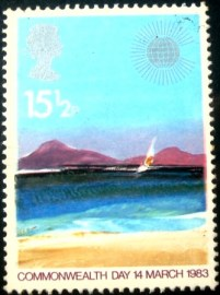 Selo postal do Reino Unido de 1983 Tropical Island