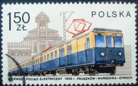 Selo postal da Polônia de 1978 Electric train