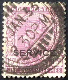 Selo postal da Índia de 1932 SERVICE overprint on King George V 1'3