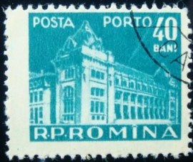 Se-tenant da Romênia de 1957 Main post office 40
