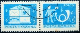 Se-tenant da Romênia de 1974 Post and telecommunications 5
