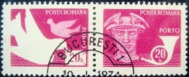 Se-tenant da Romênia de 1974 Post and telecommunications 20