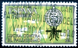 Selo postal da Espanha de 1962 Fight Against Malaria