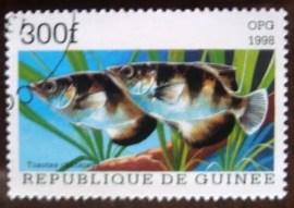 Selo postal 1998 Guinee Seven-spot Archerfish (Toxotes chatareus)