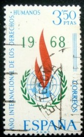 Selo postal da Espanha de 1968 International Human Rights Year