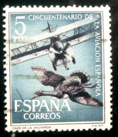 Selo postal da Espanha de 1961 Spanish Aviation