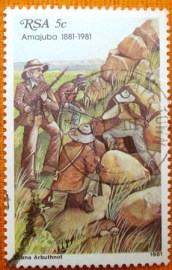Selo postal comemorativo Africa do Sul 1981 Attack of the Boers