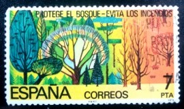 Selo postal da Espanha de 1978 Conservation of Woodlands