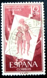 Selo postal Espanha 1956 In Support of Hungarian Children