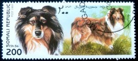 Selo postal da Somália de 1997 Rough Collie