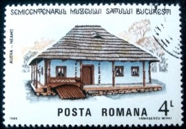 Selo postal da Romênia de 1986 House from Audia
