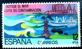 Selo postal da Espanha de 1978 Conservation of the Sea