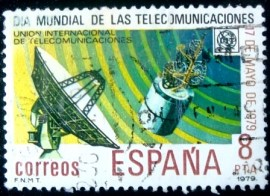 Selo postal da Espanha de 1979 World Telecommunications Day