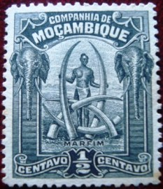Selo postal de Moçambique (Sociedade) de 1918 Native and Ivory