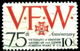 Selo postal dos Estados Unidos de 1974 Veterans of Foreign Wars
