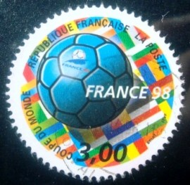 Selo postal da França de 1998 World Cup Football 1998
