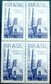 Quadra postal de 1954 Monumento do Imigrante