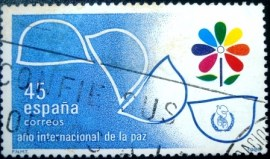 Selo postal da Espanha de 1986 International Year of Peace
