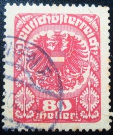 Selo postal da Áustria de 1920 Coat of arms 80
