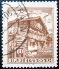 Selo postal da Áustria de 1962 Ancient Farmhouse