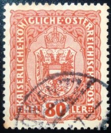 Selo postal da Áustria de 1916 Coat of arms 80