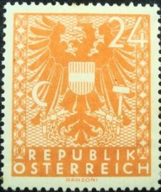 Selo postal da Áustria de 1945 New National Arms 24