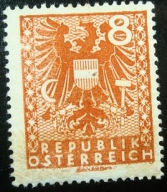 Selo postal da Áustria de 1945 New National Arms 8