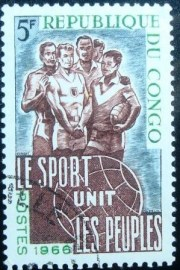 Selo postal da Rep. Popular do Congo de 1966 Athletes - 99 NCC
