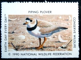 Selo National Wildlife Federation de 1990 Piping Plover