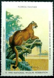 Selo National Wildlife Federation de 1990 Florida Panther