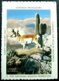 Selo National Wildlife Federation de 1990 Sonoran Pronghorn