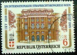 Selo postal da Áustria de 1989 Congress on Criminal Law