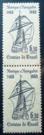 Par vertical de selos postais do Brasil de 1960 Dom Henrique
