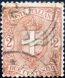 Selo postal Itália 1896 Coat of arms of Savoy