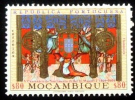 Selo postal de Moçambique de 1969 Miniatures Royal Coat Of Arms