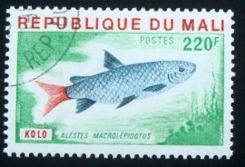 Selo postal do Mali de 1976 Large Scaled Robber
