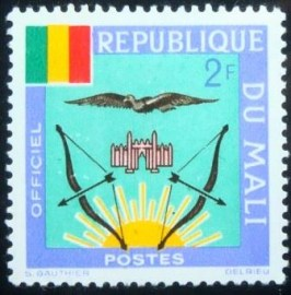 Selo postal do Mali de 1964 Coat of Arms 2