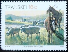 Selo postal do Transkei de 1987 Horses and Sheep