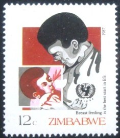 Selo postal do Zimbabwe de 1987 Growth Monitoring