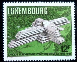 Selo postal de Luxemburgo de 1988 European Investment Bank