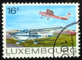 Selo postal de Luxemburgo de 1981 Aviation