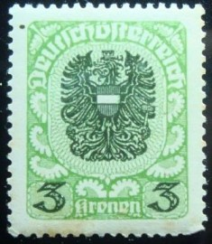 Selo postal definitivo Áustria Coat of Arms 1921